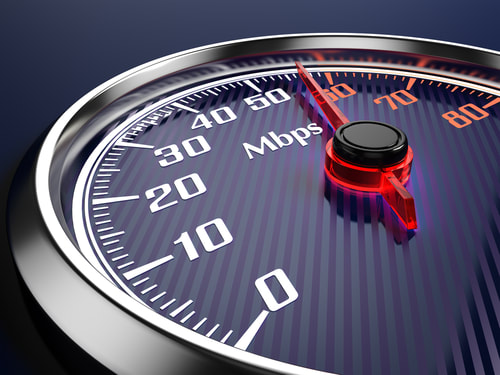 Broadband speed gauge